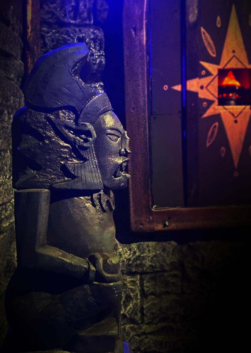 Assemble a Forbidden idol in our Game Night escape room.
